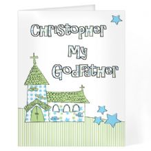 Blue Church Godfather Card